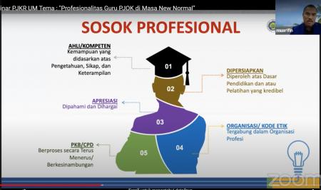 Prodi PJKR ajak Guru Tingkatkan Profesionalisme di Era New Normal