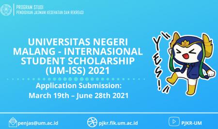 UM-International Student Scholarship (UM-ISS) 2021