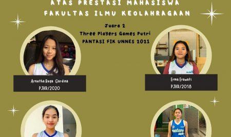 Prestasi Mahasiswa PJKR dalam PANTASI FIK UNNES 2021